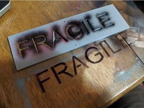 fragile stencil shipping boxes signs & logos 2 part stencil box stencil ender 3 ender 3 pro fragile fragile shipping fragile stencil shipping stencil stencil stncils shipping