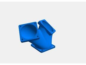 fan 40x40 duct single - dual 3d printer parts 40x40 40x40mm duct ender-3 fan fan 40x40 fan duct single dual