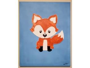 fox 2d layered art 2d art 2d art 2d wall art art fox wall art