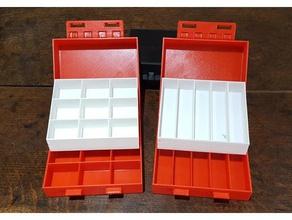 partitioned box trays diy craft box diy box electrical box electronics box fishing fly box fishing lure box hinged box jewellery box small parts box small parts tray
