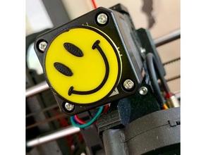 smiley face - extruder spinner 3d printer accessories extruder extruder spinner happy face smiley smiley face