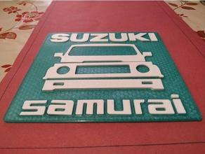 suzuki samurai logo - plate automotive 4x4 4x4 offroad logo offroad samurai sj410 sj413 suzuki suzuki logo suzuki samurai