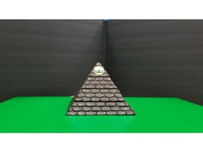 worn stone pyramid secret compartment toy & game accessories ancient egypt art box compartment egyptian hidden compartment illuminati pyramid secret secret container small parts storage storage storage box strategy game