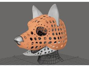 fursuit- puppet-head base - version 66 - wolf - short muzzle costume animal animal skull canine costume furry fursuit fursuit-head fursuit head handpuppet head mask pawpet pawpetshow puppet puppet head skull wolf