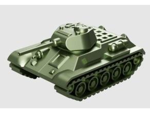 t-34 tank articulated model 1 50 vehicles 3dprintable 3d printing articulated detailed t 34 t-34 t34 tank tanks toy world war world war 2