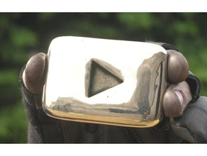 real curvy youtube play button - two halves best printing curvy playbutton art bronze bronze casting bronze play button bronze playbutton casting creaky blinder curvy play button curvy playbutton drafted play button drafted playbutton julian hg julianhg metal casting pattern pattern making play button playbutton sculpture you tube youtube youtube play button youtube playbutton