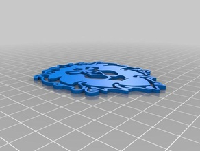 alliance symbol face outline infill 3d printing alliance alliance emblem alliance lion alliance outline alliance symbol alliance warcraft world warcraft wow wow outline wow symbol