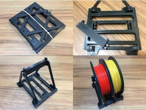 collapsible spool holder 3d printer accessories filament holder filament spool holder portabee portabee go spool holder