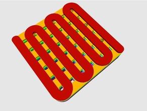 slicer manipulation fiber weave square 8x8x16mm 3d printing tests benchmark durability test material test print test slicer slicer manipulation slicer test strength test