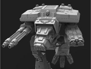lucius pattern wardog titan 28mm scale games adeptus titanicus titan warhammer 40k warhound titan