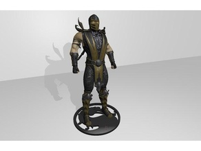 scorpion figura mortal kombat 9 logo sculture