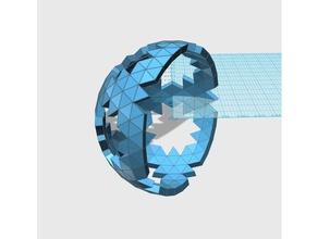 geodesic 6v hemisphere pattern 43 57 66 math art dome geodesic hemisphere sphere