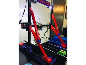 spidey z brace 3d printer parts 2020 2020 extrusion anti-wobble bracket corner corner brace corner bracket frame frame brace i3 z axis z brace z axis