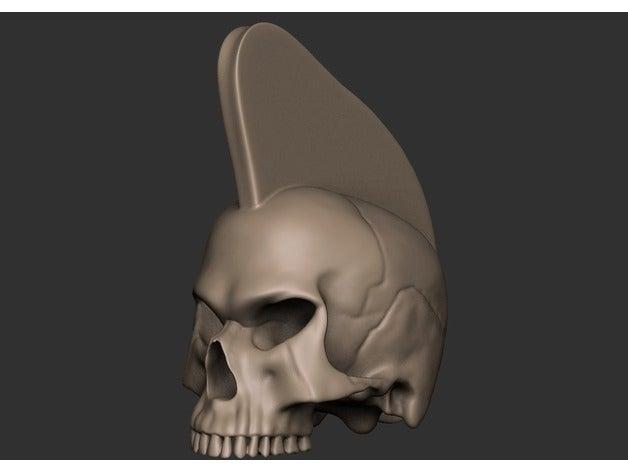 punk skull creatures head