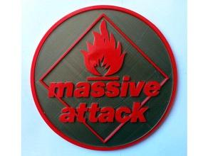 massive attack logo 2d art deco decoration massive attack