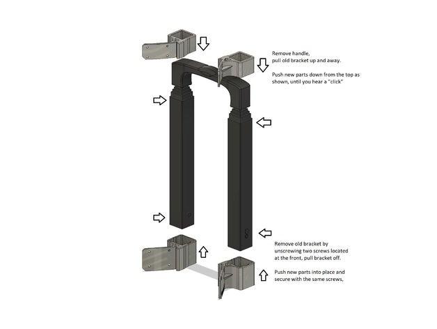 trolly handle mount gotwa