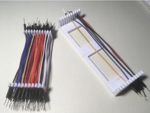 dupont cavo organizzatore segmentato personalizzabile l'elettronica cavi organizer per cavi dupont jumperwire cavo di saltatore ponticello di filo titolare organizzazione filo conduttore