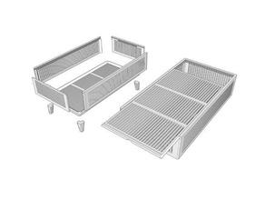500g silica gel box sliding lid household box silica silica gel silica gel case silica gel container sliding lid