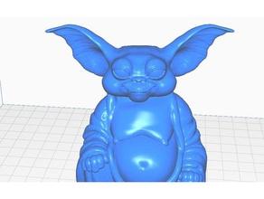 gizmo gremlin buddha tv movies collection sculptures buddha bust gizmo gremlin gremlins remix statue
