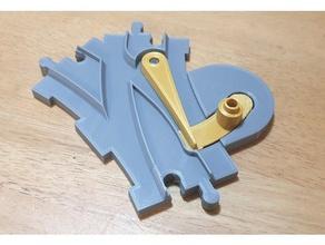 duplo switch track - solid base - left right switch 3d printer parts duplo duplo tracks duplo train lego lego compatible lego duplo pla train