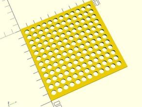 customizable mesh - circular holes circle circular customizable customized diamond hexagonal mesh