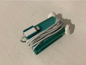 rayo auriculares earpods de almacenamiento iphone soporte plegable el teléfono móvil