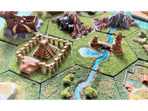 wargaming hex tiles mighty empires - aztec lizardman games aztec empires hex hex tile inca lizard lizardman mighty mighty empires tile wargame wargames wargaming