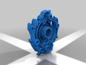 z achilles a4 right spin hasbro standart beyblade burst 3d printing