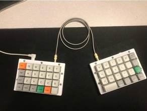 levinson keyboard let's split case top plate electronics keybaord keyboard case let's split levinson mechanical keyboard ortholinear qmk