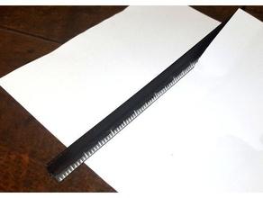 straight-edge ruler tearing paper office ruler ruler centimeters ruler cm ruler inches ruler mm straight edge
