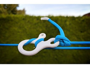 tarp line clip outdoor & garden bushcraft camping clip cord line clip loop alien paracord tarp tarp clip