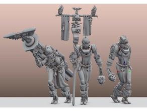 byteme servitors feliz de 500 seguidores juguetes y accesorios de juego templarios negros space marine warhammer 40k