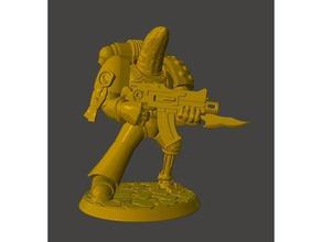 veteran banana space knight power armour games 15mm 25mm 28mm 30mm 32mm banana bionic bolter character dnd dnd miniature drunk fantasy gun marine mini miniature miniatures power armour project399 rifle rtb01 space