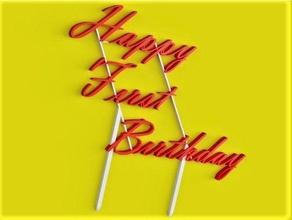 happy first birthday cake topper art birthday birthday cake birthday decoration cake cake topper first first birthday happy birthday sign