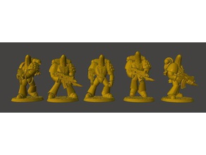 tactical banana space knights squad power armour games 15mm 25mm 28mm 30mm 32mm armour backpack banana bolter dnd dnd miniature fantasy figure gun jetpack knight marine mini miniature miniatures rifle rtb01 space