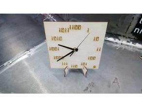 horloge binaire aiguilles clock binary needle decor aiguilles binary binary clock clock horloge lasercut