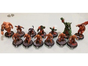 Blood bowl dark elf team