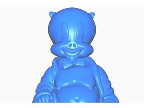 porky pig buddha retro collection sculptures buddha bust cartoon looney tunes porky pig remix retro statue