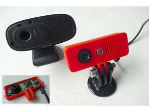 logitech c270 webcam cover replacement gopro mount 3d printer accessories c270 c270 mount gopro gopro mount logitech logitech c270 mk3 c270 webcam webcam cover webcam holder webcam mount