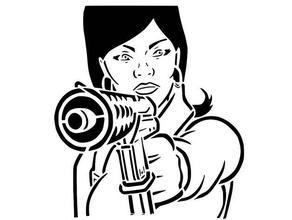 lana kana stencil 2 2d art agent archer lana kane spy stencil