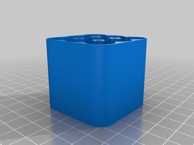 battery case aa 3x3 40mm