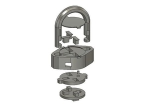 fully printable padlock tools assembly required fully 3d printed fully printable fully printed padlock