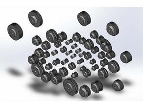 htd toothed belt wheel neutral cad file format 3d printing belt wheel cad htd htd-3m htd-5m htd-8m htd3m htd5m htd8m htd blank openscad placeholders pulley splined shafts step step-file template thoothed belt wheel tooth blank zahnriemenrad
