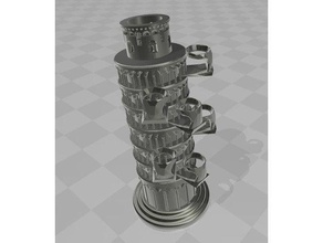 torre pendente di pisa pittura supporto di bottiglia di ingegneria estrusore interrompere tech tech-1 asse x x-one x-one2