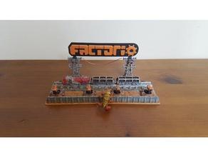 factorio diorama art diorama display factorio neat train