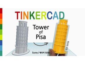 semplice torre di pisa tinkercad modelli architettura edificio eunny italia pisa semplice tinkercad torre