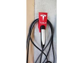 tesla mobile charger & cable holder logo letters automotive cable holder tesla tesla model 3 tesla model 3 tesla model s tesla model s tesla model x tesla model x tesla motors