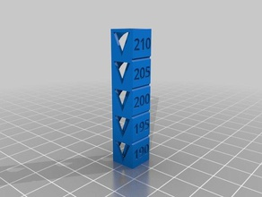 torre temperatura 190-210 3d printing tests customized