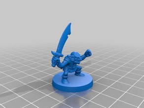 heroquest goblin scimitar repaired toy & game accessories fantasy goblin heroquest scimitar warhammer