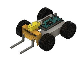 robofork - completely 3d printed robot forklift r c vehicles arduino completely 3d printed easy 3d print education educational fork forklift lift rc forklift robofork robot